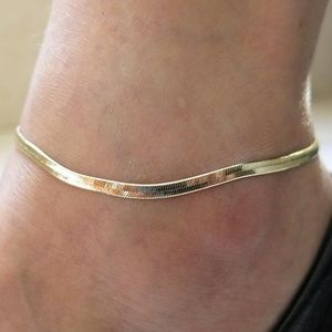 Thin Metal Chain Anklets